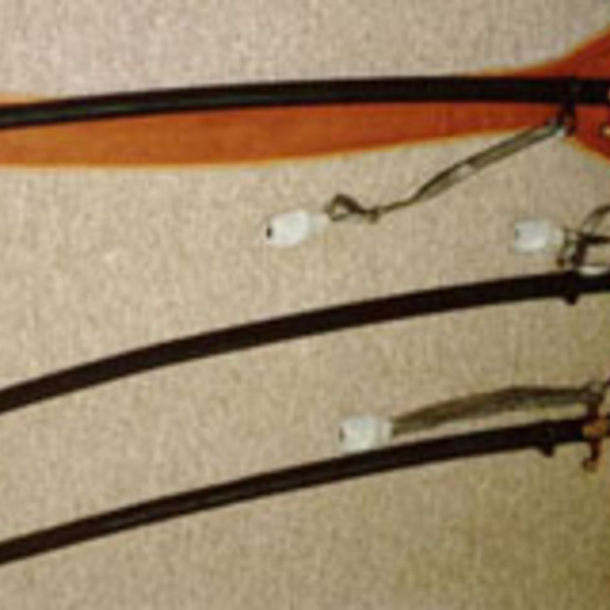 GERMAN ARMY OFFICER'S SWORDS. TOP WITH ORIGINAL PURCHASE FELT BAG.